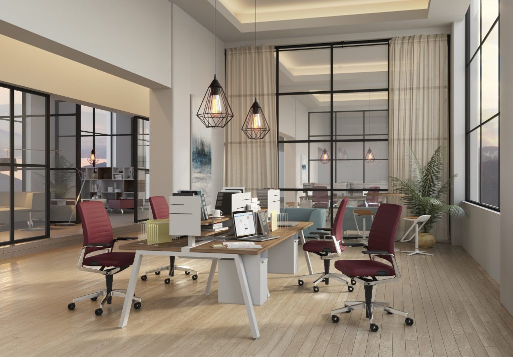 Tremain - Mobiliario de oficina - oficina ejecutiva render
