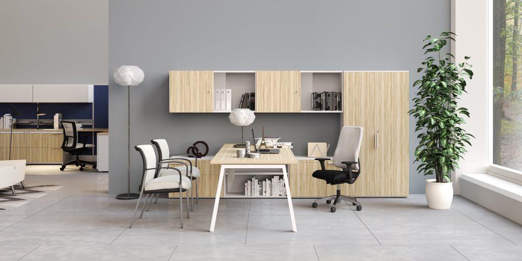 Tremain - oficina render minimalista