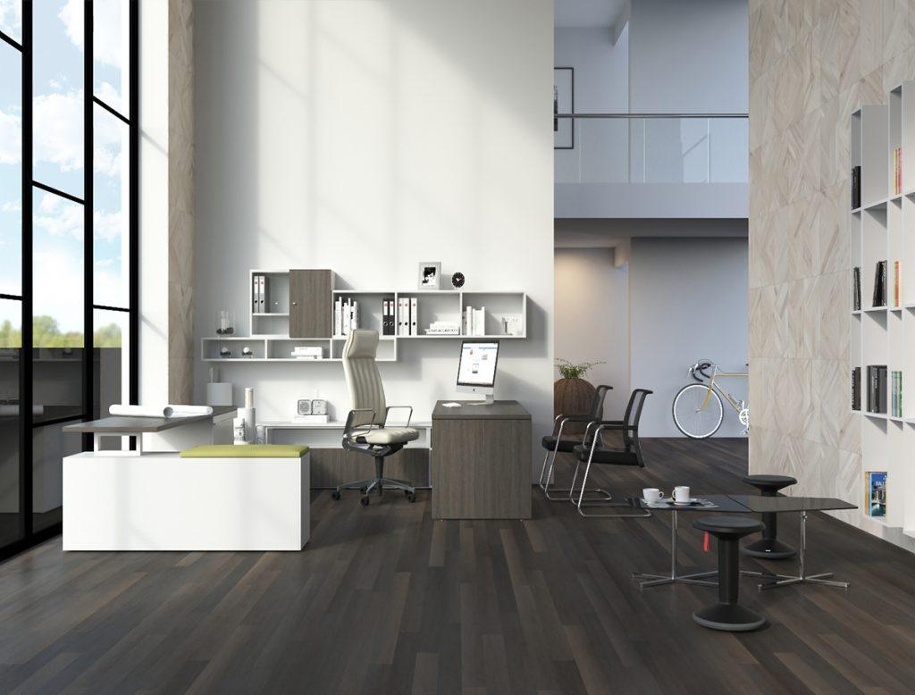 Tremain - escritorio altura ajustable- oficinas minimalistas